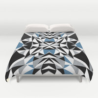 Abstract Kite Black and Blue Duvet Cover by Project M | Society6