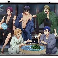 "Free! Iwatobi Swim Club Anime Fabric Wall Scroll Poster (32"" x 22"") Inches"