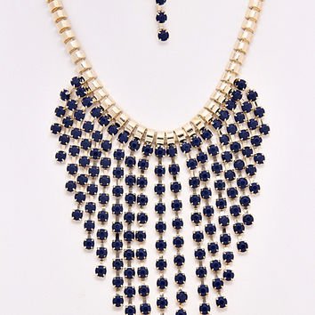 Burst of Blue Necklace