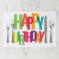 Happy Birthday Tearaway Placemat