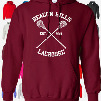Teen Wolf Hoodie - Beacon Hills Lacrosse Hoodie - Stilinski 24 - Teen Wolf Hooded Sweatshirt Sizes S - 5XL - Lahey, McCall, Dunbar Available