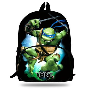 16-inch Mochila Infantil Children School Bags Teenage Mutant Ninja Turtles Backpack Kids School Boys Age 7-13 Catoon Bags Gift