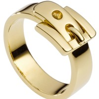 Michael Kors Ring, Gold-Tone Buckle Ring - Fashion Rings - Jewelry & Watches - Macy's