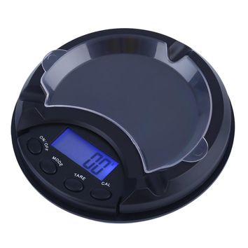 KCASA 500g/0.1g LCD Electronic Digital Precise Pocket Scale Ashtray Balance Pocket Jewelry Gold Diam