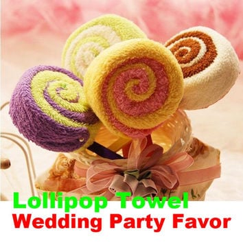 Wedding Decoration Washcloth Towel Gift Lollipop Towel Bridal Baby Shower Wedding Party Favor Decoration