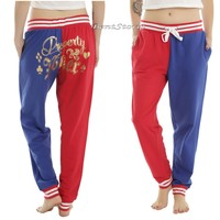 "Licensed cool HARLEY QUINN ""PROPERTY OF JOKER"" Jogger / Sleep Pants DC  SUICIDE SQUAD"