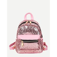 Glitter Detail Backpack