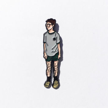 "Bill Haverchuck 1.5"" Enamel Lapel pin // Freaks and Geeks"