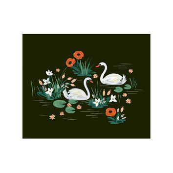 Swan Art Print by RIFLE PAPER Co. | Made in USA