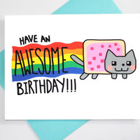 Happy Birthday Cat Meme Card