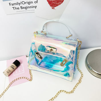 Fashion  transparent  bag day evening purse summer