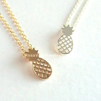 Cute Pineapple Necklace - Gold, Rose Gold & Silver