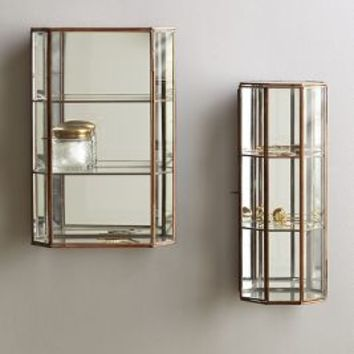 Hanging Curio Cabinet by Anthropologie in Bronze Size: