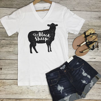 The Black Sheep Tee- White