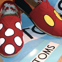 Custom Toms Shoes Mickey & Minnie Men & Women's