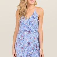 Haylie Floral Ruffle A-Line Dress