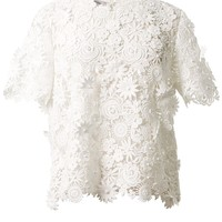 VALENTINO macramé embroidered top