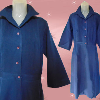 Plus Size Vintage Maid Uniform - 1960s Matron or Cleaning Lady - Halloween Costume Idea