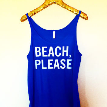 8a2e726a9 Beach, Please - Slouchy Relaxed Fit Tank - Ruffles with Love - F