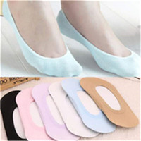 Fashion 1 Pair Women Summer Style Candy Color Socks Antiskid Invisible Liner No Show Low Cut Ankle Sock For Girls