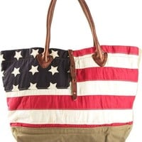 Ralph Lauren Denim & Supply camouflage and american flag tote