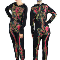 Electric Skeleton Footie Pajamas