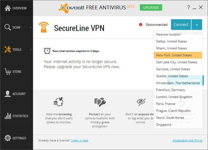 avast secureline vpn license key 2016