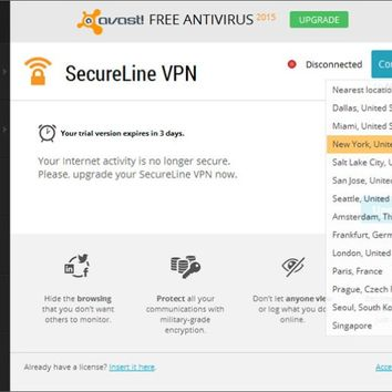 Avast SecureLine VPN 2016 License File + Crack