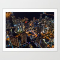 The City Centre Art Print by aonprestige