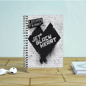 5 Seconds Of Summer Jet Black Heart Photo Notebook Auroid