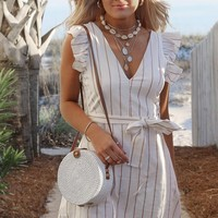 Chasing You Cream Stripe Dress