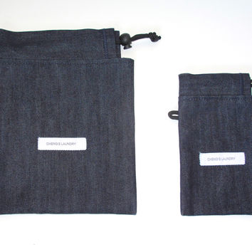 Selvedge Denim Utility Bag(Raw Indigo)
