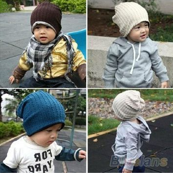 PEAPIX3 Baby Infant Toddler Beanie Hat Warm Winter Boys Girls Cap Children 5 Colors = 1946288260