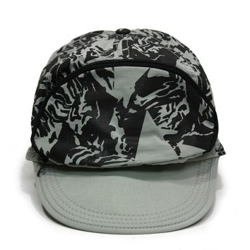Cap Sac Adjustable Cap with Pocket Gray Shadow