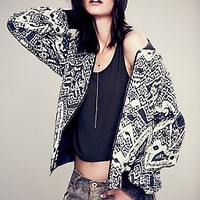 Free People Womens Love Story Quilted Bomber - Black / Taupe,