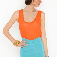 Tulip Bandage Skirt - Turquoise in  What's New at Nasty Gal