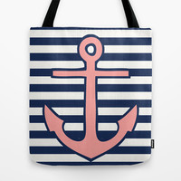 Anchor Tote Bag by daniellebourland