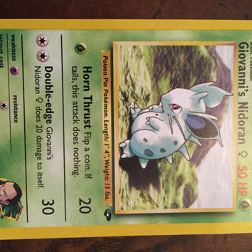 Rare Pokemon Card Giovanni's Nidoran