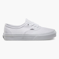 Vans Authentic Kids Shoes True White  In Sizes