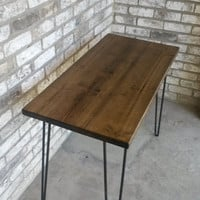 "Reclaimed wood desk, hairpin legs, 39"" long x 20"" wide x 30"" high, IN STOCK, ready to ship"