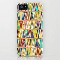 nectarine triangles iPhone Case by Sharon Turner | Society6