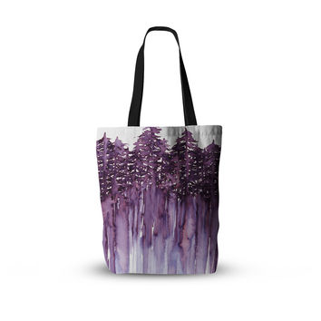 "Ebi Emporium ""Forest Through The Trees 2"" Purple White Everything Tote Bag"