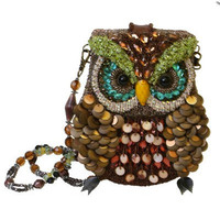 MARY FRANCES 1920's Style Night Owl Beaded Handbag - Unique Vintage - Cocktail, Evening, Pinup Dresses