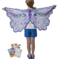 Douglas Toys Dreamy Dress-Ups 50573 Fairy Rainbow Purple Wings with Coloring Book