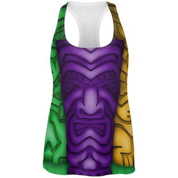 PEAPGQ9 Mardi Gras Tiki Glass Party All Over Womens Work Out Tank Top