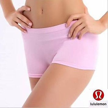 Lululemon Women Yoga Gym Sport Underpant panty Shorts Bottoms