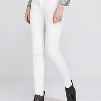 White High Waist Denim Pants