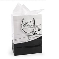Fun Express Medium Welcome To Our Wedding Gift Bags (1 Dozen)