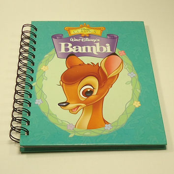 Walt Disney's Bambi Upcycled Spiral Bound Notebook