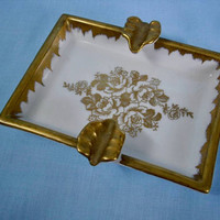 Vintage Hand Painted De Limoges Ash Tray
